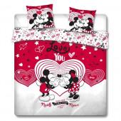 Capa Edredon Casal Minnie e Mickey Love You Disney 240x220cm