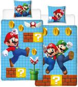 Capa Edredon Reversível Jogo Super Mario e Luigi Solteiro
