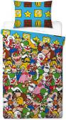 Capa Edredon Reversível Super Mario Jogo Solteiro