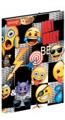 Capa elásticos A4 com lombada Emoji Sticker