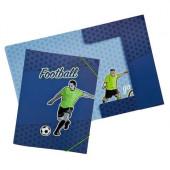 Capa elásticos cartolina A4 Futebol