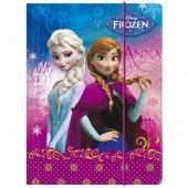 Capa Elásticos Escolar Frozen Disney A4