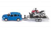 Carro com Reboque e Moto Siku