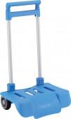 Carro Dobrável Porta Mochilas Escolares Azul Celeste