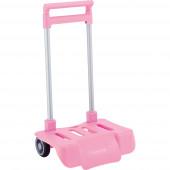 Carro Dobrável Porta Mochilas Escolares Rosa Claro