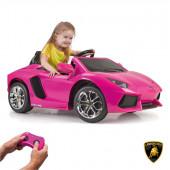 Carro Lamborghini Aventador Rosa 6V Feber