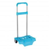 Carro Porta Mochilas Escolares Azul Celeste