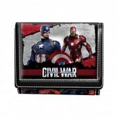 Carteira Capitão Marvel  América Civil War Shield