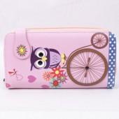 Carteira grande rosa - Mocho ciclista