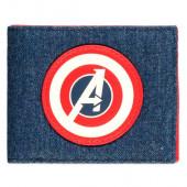 Carteira Pele Capitão América Avengers Marvel