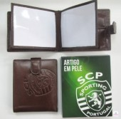 Carteira Pele Presilha SCP Sporting