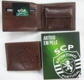 Carteira Pequena Pele Moedeiro SCP Sporting
