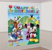 Cenário de parede Mickey Minnie e amigos