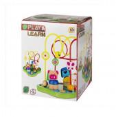Centro de atividades de madeira Play & learn