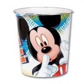 Cesto/balde 23cm Mickey Mouse - modelo azul