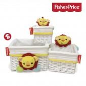 Cesto de vime Fisher Price - Conjunto Leãozinho