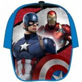 Chapéu CAP Marvel Capitão America vs Iron Man