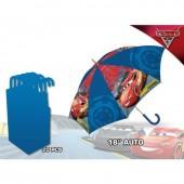 Chapéu chuva automático 45cm - Cars Disney
