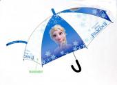 Chapéu Chuva Automático Transparente Frozen 2 Elsa 44cm