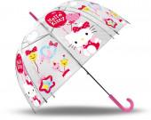 Chapéu Chuva Bolha Hello Kitty 47cm