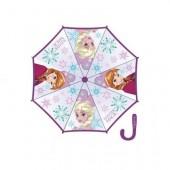 Chapéu chuva manual de cabo roxo Frozen 46cm