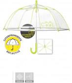 Chapéu Chuva Manual Transparente Amarelo 42cm