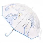 Chapéu Chuva Manual Transparente Elsa e Nokk Frozen 2 - 45cm
