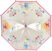 Chapeu Chuva Manual Transparente Princesas Disney Rosa
