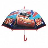 Chapéu chuva transparente 45cm manual Cars