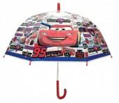 Chapéu chuva transparente bolha 48cm manual Cars