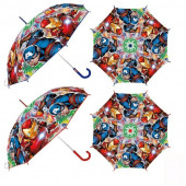 Chapéu Chuva Transparente Manual Avengers Sortido 46cm