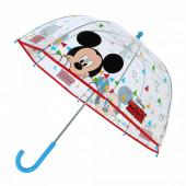 Chapéu Chuva Transparente Manual Mickey 46cm