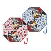 Chapéu Chuva Transparente Mickey Super Pilotos Sortido 38cm