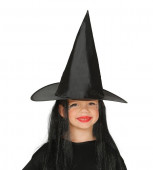 Chapéu de Bruxa com Cabelo Criança