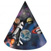 Chapéus de Festa Space Blast - 8 uni