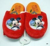 Chinelos de quarto Disney Mickey vermelho