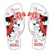 Chinelos Flip Flop brancos da Minnie - All Original