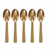 Colheres Plástico Dourado 10und