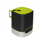 Coluna Bluetooth Outdoor com Lanterna Verde