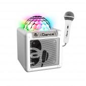 Coluna Branca BL + microfones + Luzes LED I Dance