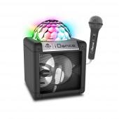 Coluna Preta BL + microfones + Luzes LED I Dance