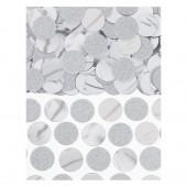 Confettis Circulos Prateados Metalizados 63g