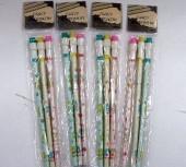 Conj. de 3 lápis com borracha