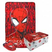 Conj manta + pantufas Spiderman