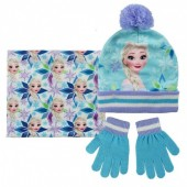 Conj. polar gorro+luvas+cachecol Elsa Frozen Disney