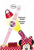 Conj Relógio + lanterna Minnie