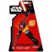 Conj Relógio + lanterna Star Wars VII