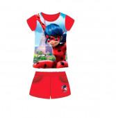 Conj Verão Camisola e calção vermelho Ladybug