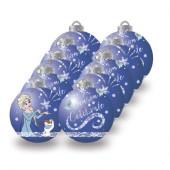 Conjunto 10 Bolas Natal Azuis Frozen