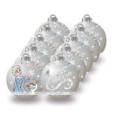 Conjunto 10 Bolas Natal Prateadas Frozen